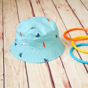 Carter's Reversible Blue Beach Hat